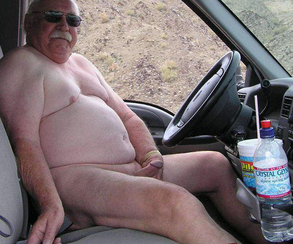Fat Old Fag In The Car