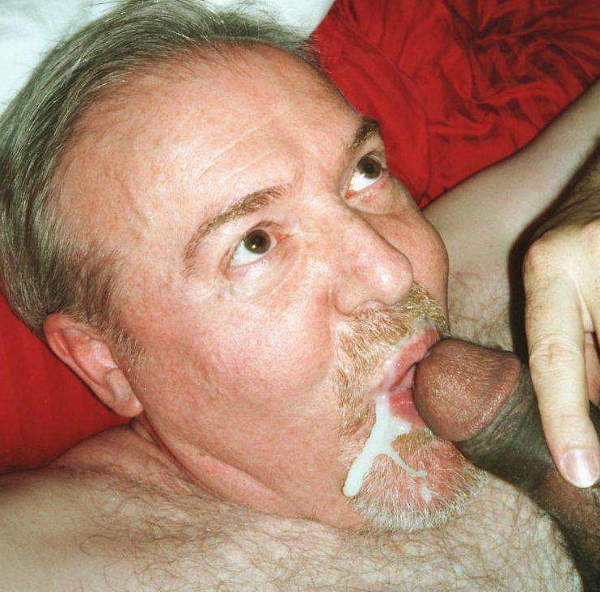 Old Gay Mouth Cumshot